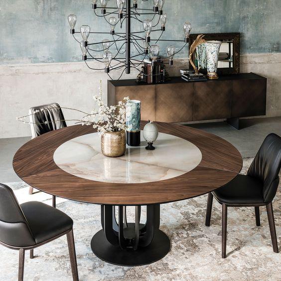 Mesas redondas e seu uso em ambientes